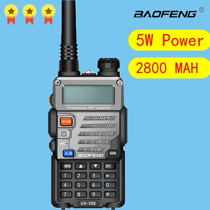 Baofeng UV5-RE Walkie Talkie Two Way Communicator Transceiver FM UV5R E VHF UHF Portable Pofung  Hunting CB Ham Radio Station