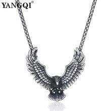 YANGQI ожерелье из нержавеющей стали с подвеской в виде летающего орла в стиле хип-хоп, панк, массивное ожерелье, античное Серебряное украшение в виде птицы и животного