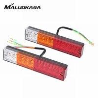 MALUOKASA 2pcs Car Tail Light 12V 20LEDs Reverse Indicator Trailer Waterproof Rear Caravan Truck Lamp Turn