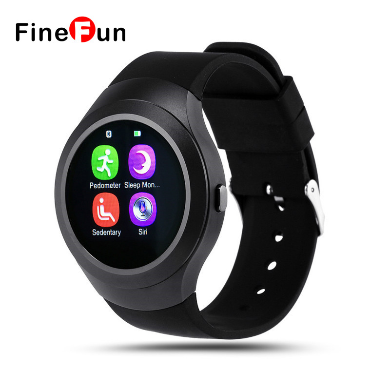 ФОТО FineFun L6 1.22 inch Round Dial Smartwatch Phone MTK2502 IPS Screen Pedometer Sedentary Reminder Bluetooth 4.0 Anti-lost