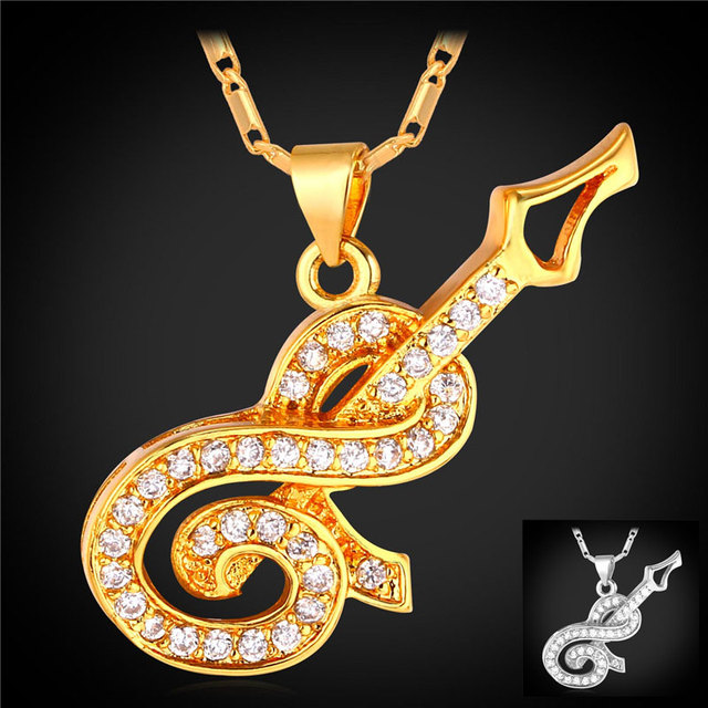 Cute guitar pendants necklaces gold color zirconia necklace cute guitar pendants necklaces gold color zirconia necklace wholesale fashion jewelry for womenmen gift p1663 mozeypictures Gallery