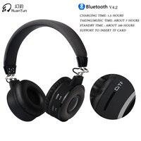 HuanYun Bluetooth kulaklık kulaklık Kablosuz Stereo Bas Müzik Spor Kulaklık Için Mic Ile Kart yuvası Iphone Xiaomi