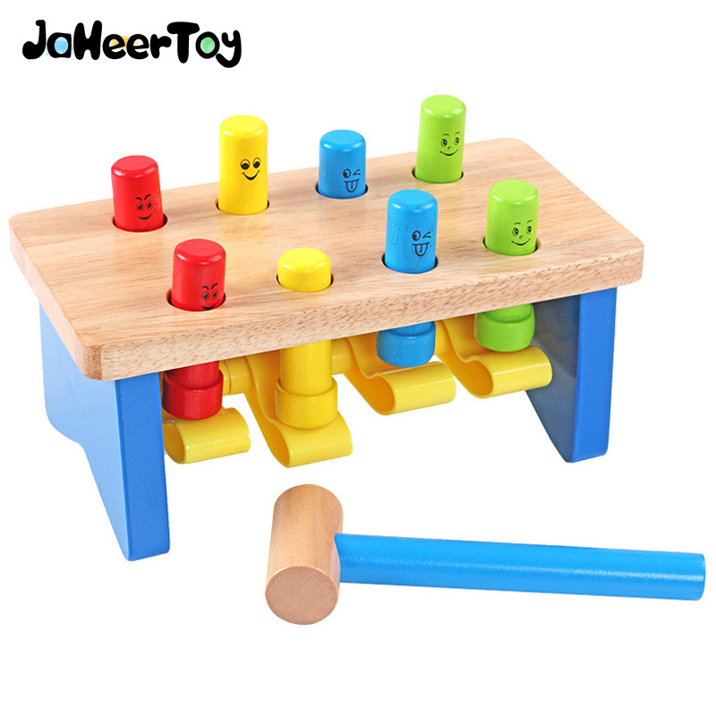 JaheerToy  Baby Educational Toys Play Hamster Game Smiling Face Percussion Children's Toy for Kids Colourful Wood 1000g dynamic amazing diy educational toys plasticine indoor magic play do dry sands mars space sands color clay for kids
