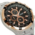 Calendar Men'S Quartz Watch Wrist Steel Alloy Strap Fashion Luxury Analog Sport Luminous