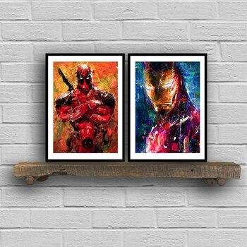 Avengers Süper Kahraman Ironman Deadpool Tuval Baskı Ve Poster