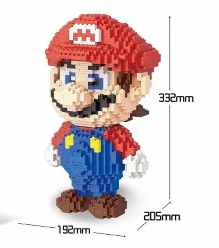 Classic cartoon game figures big size 33cm super mario bro building block model bricks educational toys collection for kids gift dayan gem vi cube speed puzzle magic cubes educational game toys gift for children kids grownups