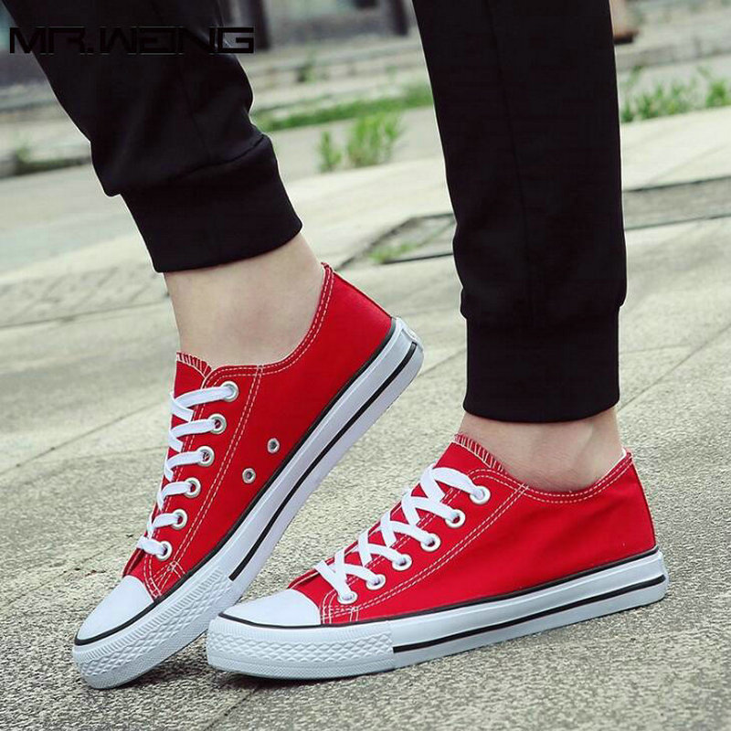 Laki-laki merek kanvas sepatu kasual sepatu flat sepatu olahraga - Sepatu Pria - Foto 2