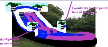 PVC Inflatable trampoline bouncer with water slide with pool commercial inflatable water slide