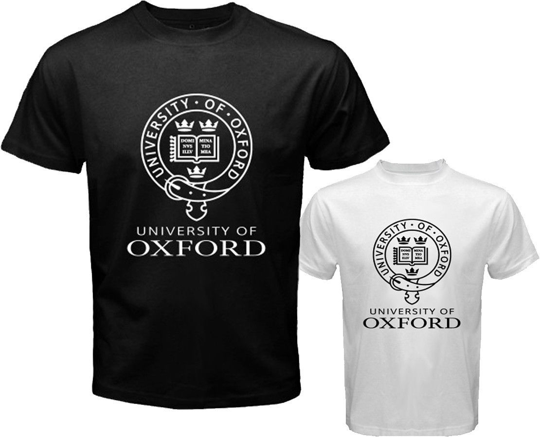 New University Of Oxford Logo Symbol Menu0026#39;s White Black T Shirt Size S To 2XL-in T-Shirts From ...