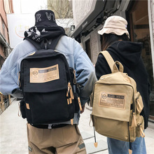Korean Backpack Canvas Bag Men's Fashion British College Wind Junior High School Students Travel Shoulder Bag Women Backpack стоимость