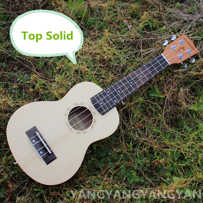 Top Solid Soprano Ukulele 21 Inch Mini Guitar 4 Strings Mahogany Picea Asperata Ukelele Guitarra Handcraft Uke High Quality 21 inch colorful ukulele bag 10mm cotton soft case gig bag mini guitar ukelele backpack 2 colors optional