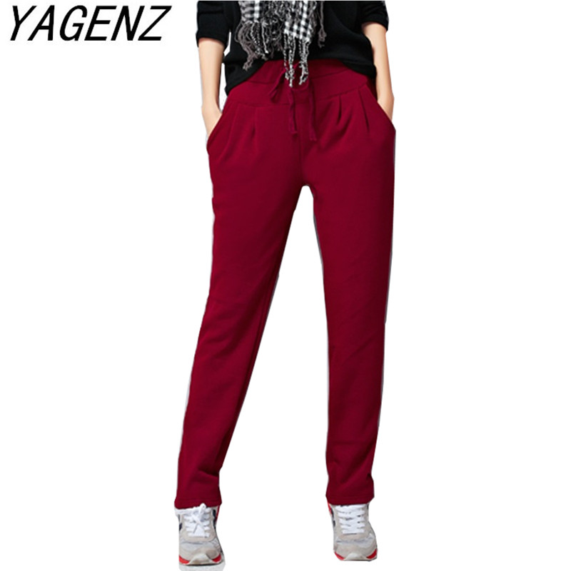 Plus Size 4XL 5XL 6XL Womens Autumn Winter Trousers Fashion Plus Velvet Thick Warm Feet Pants Solid Women's Pocket Casual Pants
