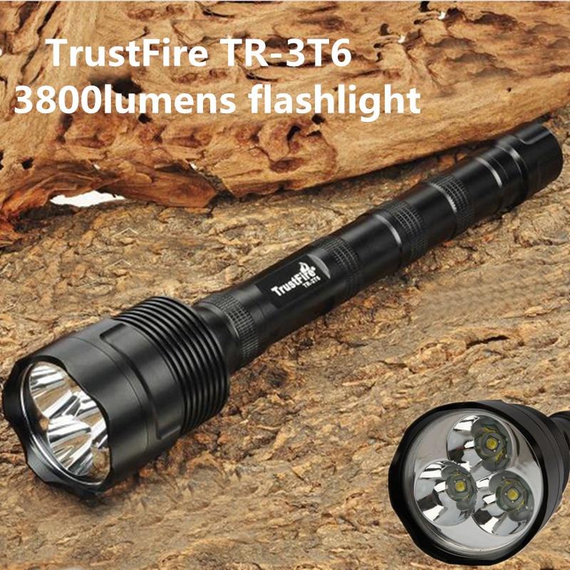 TrustFire TR-3T6 flashlight 3x XM- L2 LED 3800 Lumen Flashlight 5-Mode Flashlight Torch LampTrustFire TR-3T6 flashlight 3x XM- L2 LED 3800 Lumen Flashlight 5-Mode Flashlight Torch Lamp