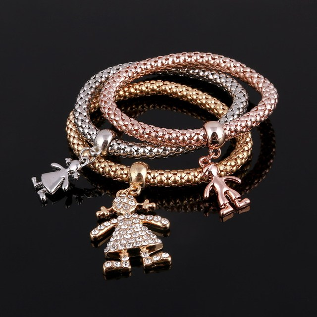 bracelet from gold charm steel plated plating boy hand bracelets little line stainless in vacuum red bear girl women fashion jewelry cute woven brand item