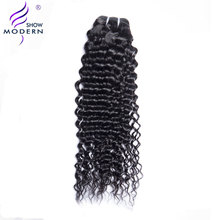 Modern Show Hair Malaysian Curly Hair Weave Human Hair Bundles 1 Piece Only Natural Black Color Hair Extensions Non Remy Hair(China)