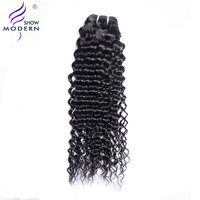 Modern Show Hair Malaysian Curly Hair Weave Human Hair Bundles 1 Piece Only Natural Black Color Hair Extensions Non Remy Hair
