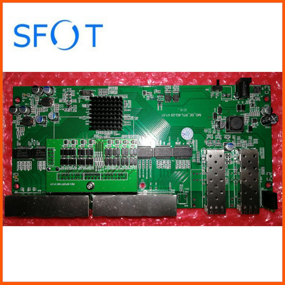 POE Reverse Switch Board 2 Ports SFP 8 Ports GE Rj45 Operational PD Switch without web