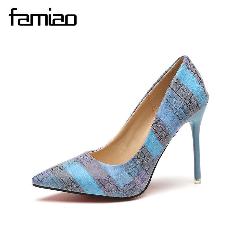 FAMIAO Women pumps party wedding shoes super high heel pointed toe zapatos mujer chaussure femme talon brand ladies shoes 2017 1