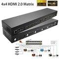 Новый 4x4 HDMI 2.0 Матрица Переключатель 4 В 4 Из HDMI Splitter 1080 P 4 К x 2 К 3D HDTV видео аудио Коммутатор С HDCP2.2, ДУГИ, ИК, RS232_DHL