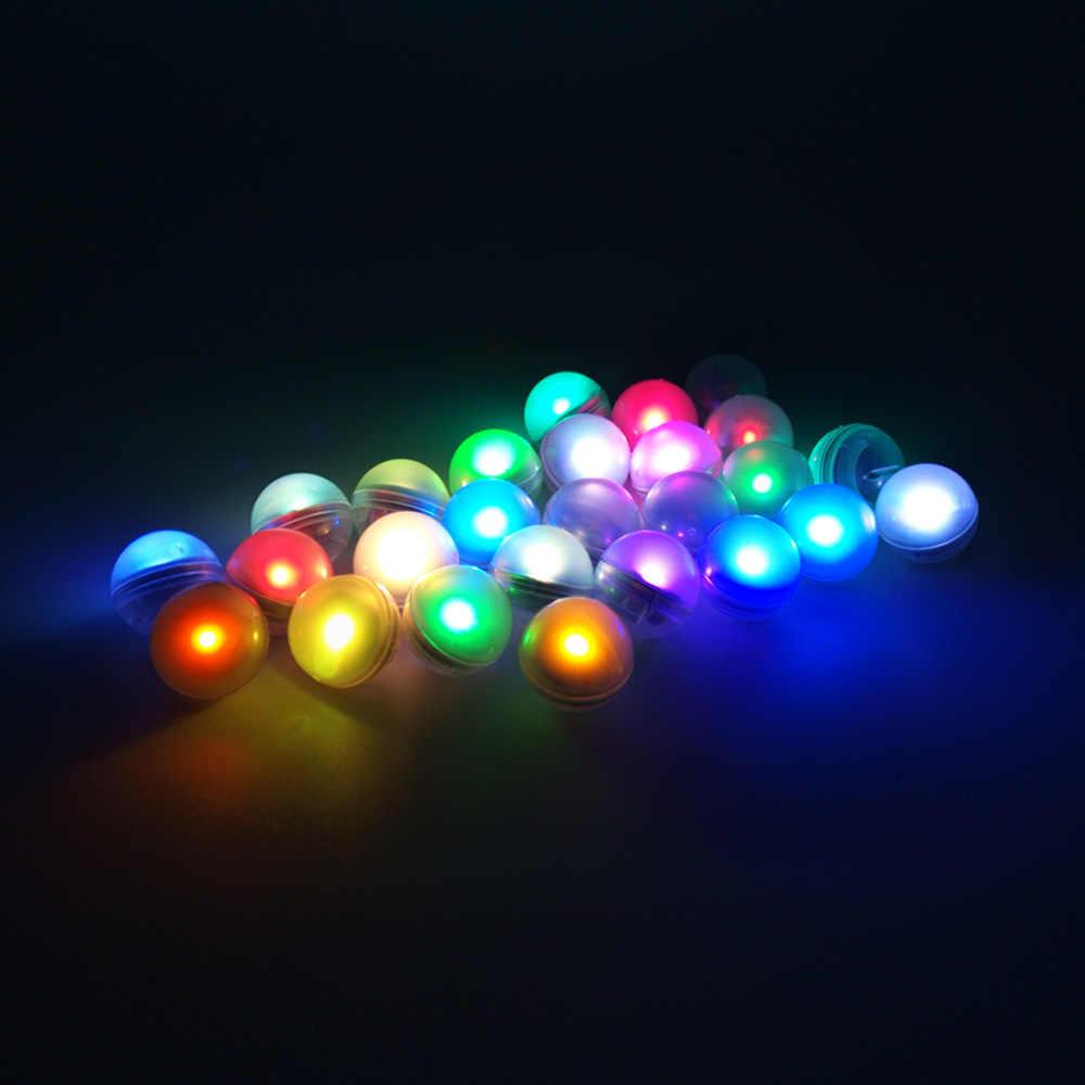 1 unidad RGB colores cambiantes redondo LED bola jardín luz impermeable flotante piscina pesca lámparas de noche para la decoración del banquete de boda