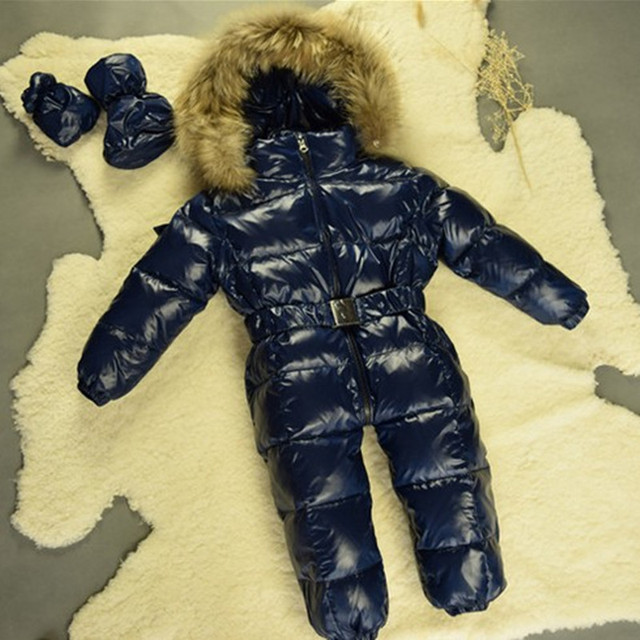 b4ed254e643f Children Newborn Winter Rompers Goose Down Jumpsuit Kids Clothing ...