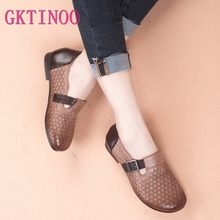 GKTINOO 2019 Autumn New Vintage Handmade Shoes Loafers Genui