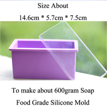 цена на Rectangle Cold soap mold food grade silicone mold soap making outlet 600g