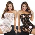 Mujeres mujeres porno Erotic sexy lingerie fishnet Seamless crotch mini vestido Cuerpo Stocking nightwear nightdress nightie disfraces