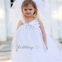 Ellie S Bridal White Affordable Designer Custom For Buyer Sash Junior Bridesmaid Morden Tulle Dress 2