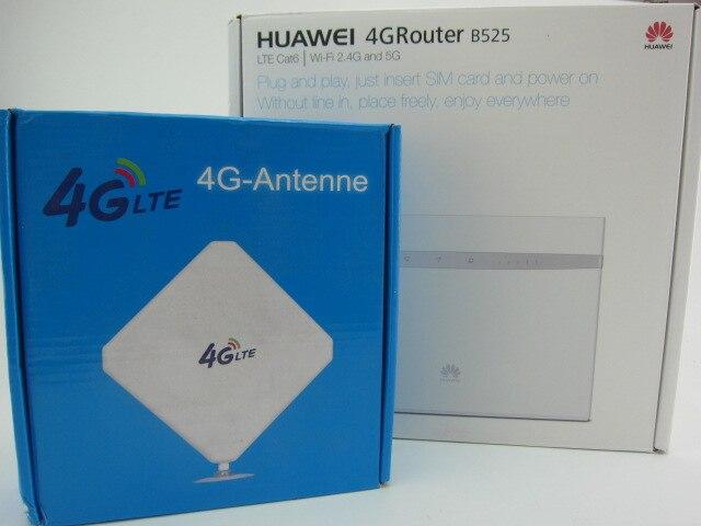 Huawei B525s-23a 4G LTE WLAN Router 300Mbit +35dBi 3G/4G LTE Long Range Signal antenna