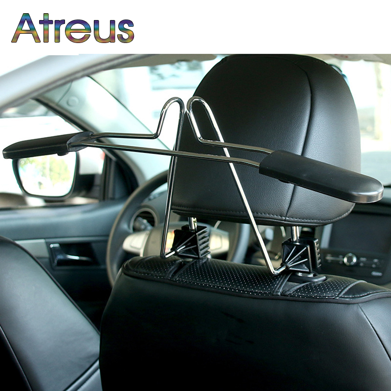 Atreus Car rear seat headrest stainless steel hanger for Renault Chevrolet cruze Opel astra h Nissan Juke Peugeot 307 308 407 ...
