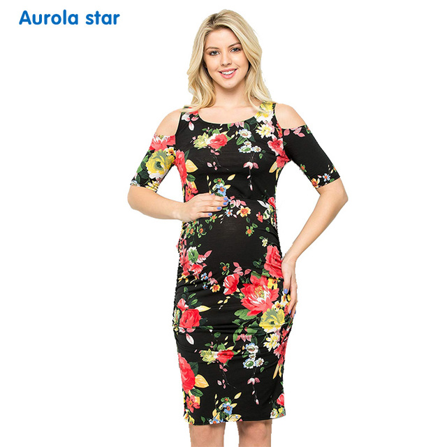 58acd77c3c0 Dresses for pregnant Women Photo shoot Baby shower Pregnant Dress Casual Floral  Print Maternity Short Pregnancy Clothing Dress