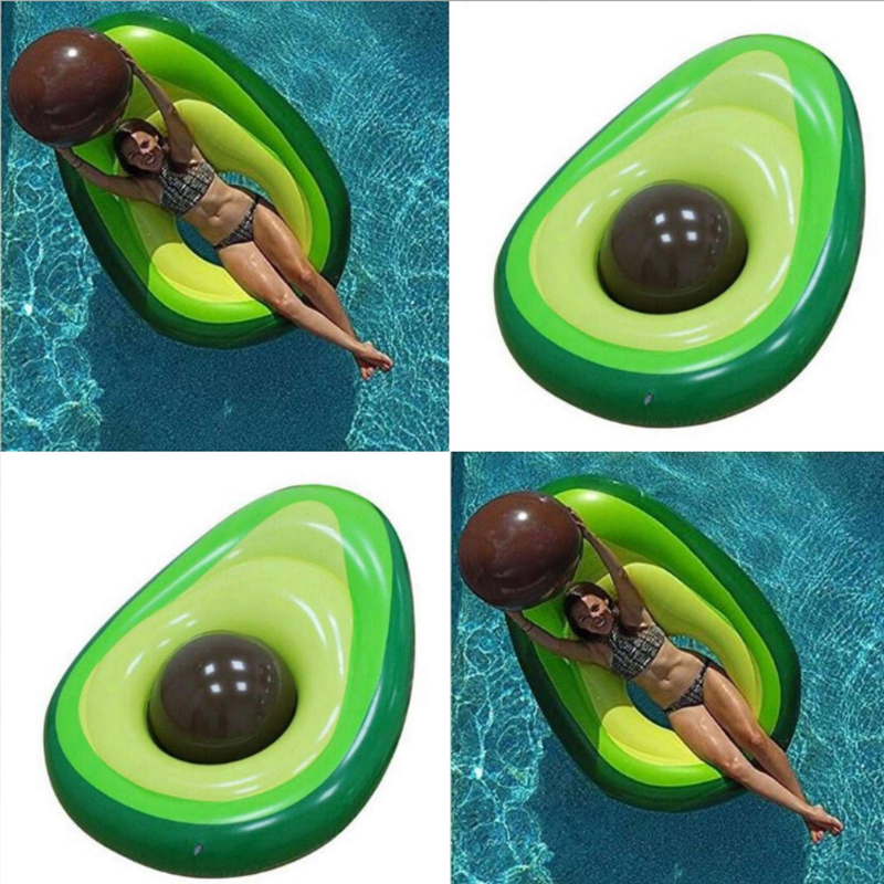 160x125cm Avocado Swimming Ring Inflatable Swim Giant Pool