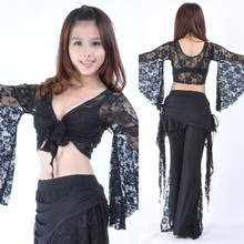 2016  The new Lace pants + lace blouse advanced belly dance practice clothes suit clothing wholesale