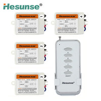 Y F211A1N4 220V Four Ways Wireless Digital Romote Control Switch With 4 Receivers 110V