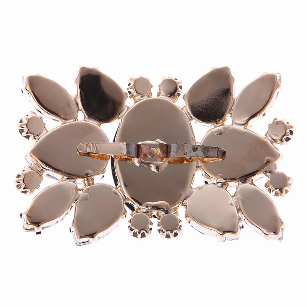 ... New 2Pcs Rhinestone Shoe Clips DIY Decorations Accessory Vintage Style  For Wedding Bridal 5.8x4cm Shoe ... 6682d9c00b81