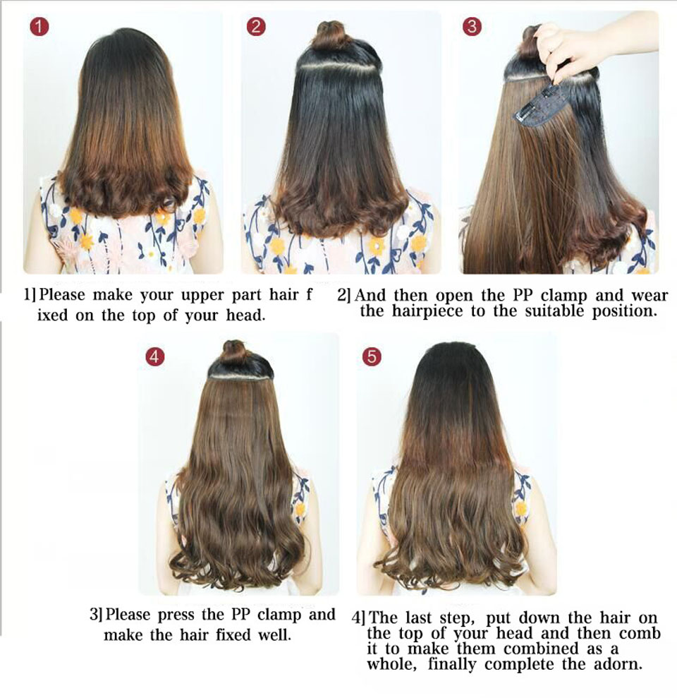 Wignee Lengthy Physique Wave Cosplay Halloween Hair 5 Clips In Hair