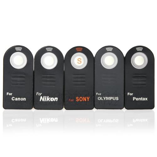 10pcs IR Wireless Remote Control for canon 650D 700D 5D4 5D3 1DX For nikon D850 D800 D810 D750 For sony for pentax for Olympus
