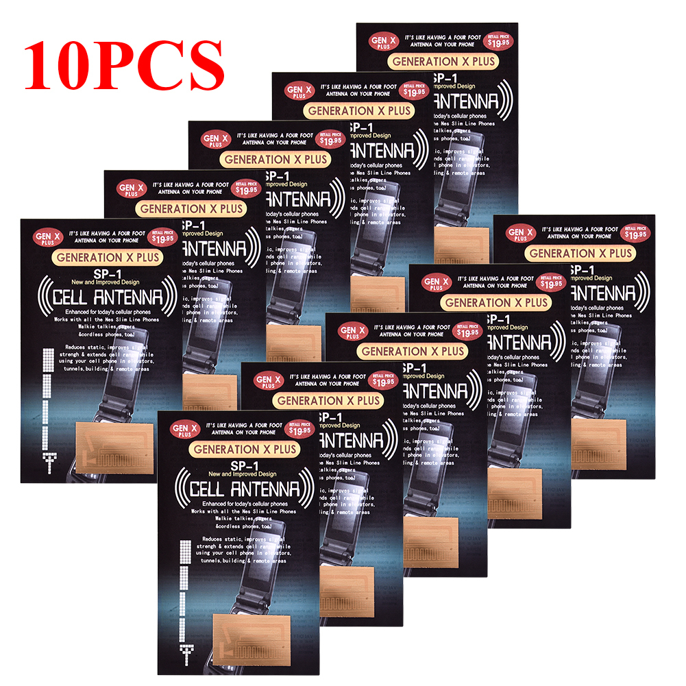 10cs Cell Phone Signal Boosters Gen X Antenna Booster Improve Signal Antenna Booster Stickers For Camping Ski