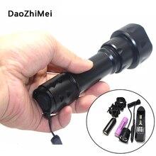Lampe torche IR à zoom en 1 Mode, batterie torche LED rechargeable, chargeur, interrupteur de pression, nouveau modèle 18650