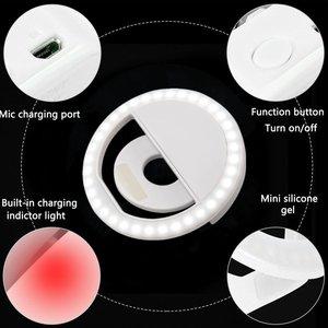 Image 4 - חדש USB תשלום Selfie נייד פלאש Led מצלמה טלפון צילום טבעת אור שיפור צילום למחשב iPhone Smartphone