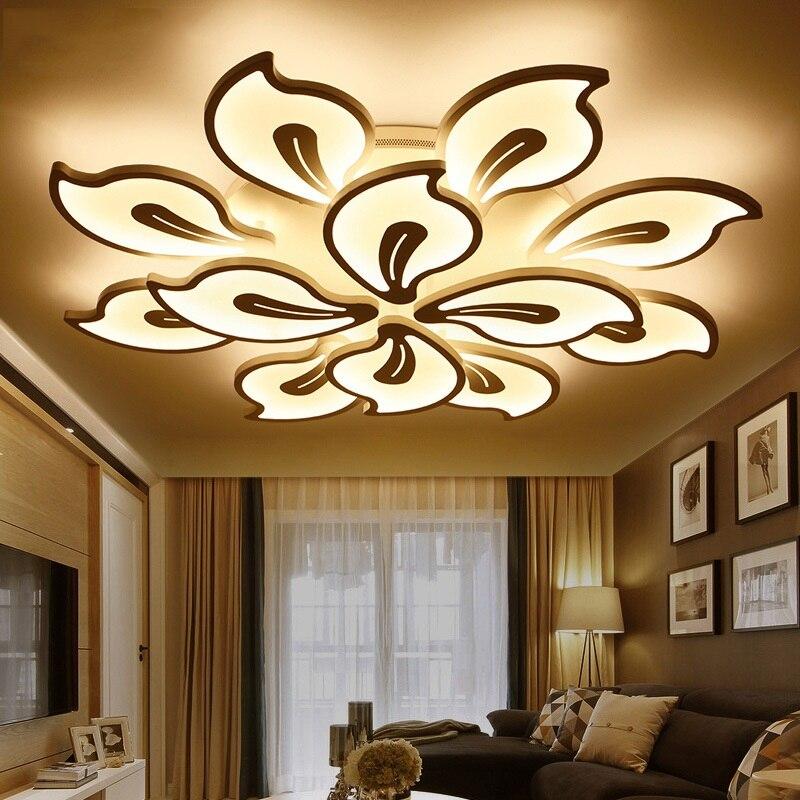 Креативная акриловая Светодиодная потолочная лампа цветочного типа для дома, гостиной, спальни, кабинета, прохода, потолочное освещение, ко...