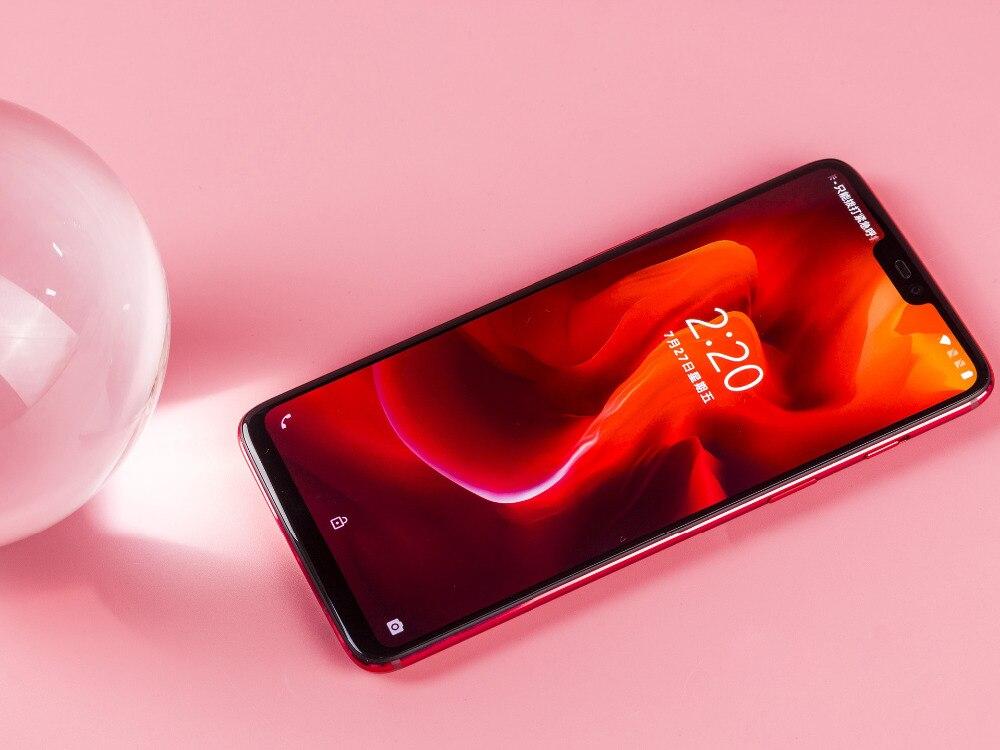 """מיכל אסלה חרסה ניו נעילת מקורי גרסה OnePlus 6 Mobile Phone 4G LTE 6.28"""" 8GB RAM 128GB Dual SIM כרטיס ה- Snapdragon 845 אנדרואיד Smartphone (5)"""