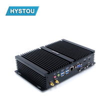 i7 5550U Mini PC Windows 10 Intel Core i3 4010U i5 4200U Fanless Industrial Computer Dual