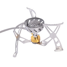 Outdoor Camping Gas Stove Burner Fuel Tank Combined Gas Cookers Camping Stainless Steel Gas Mini Stove With Box Packaging 1 PC