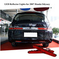 Para 2007 Honda Odyssey LED Red pára choques traseiro refletores de luz de freio luzes traseiras estacionamento aviso noite Runing