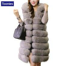 Female Long Faux Fur Thickened Vest Imitation Mink Hair Fox Fur Coat Female Waistcoat Straight Elegant Warm Outwear Clothing
