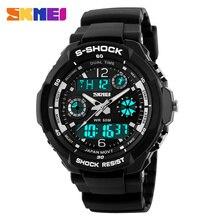 S-shock para hombre reloj militar reloj para hombre del reloj del deporte SKMEI Luxury Brand cuarzo analógico y Digital LED de exterior relojes a prueba de agua