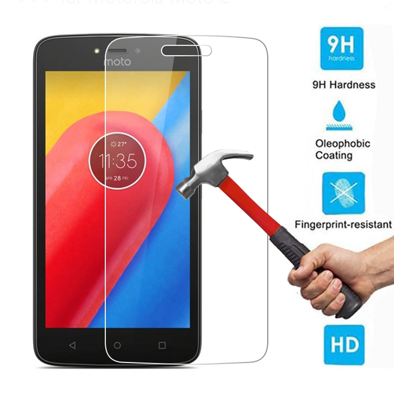 0.26mm 9H Hardness 2.5D Premium HD Clear Tempered Glass Screen Protector Guard Film Cover For Motorola Moto C / Moto C Plus