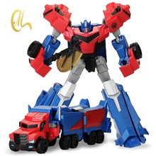 Anime alloy Plastic Transformation Robot Action Figure Toys Robot Car Class Cool Brinquedos Model Boy Toy Christmas Gifts